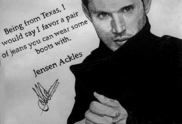 Jensen Ackles by Haleema